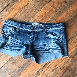 Wet Seal Size 13 ripped denim shorts